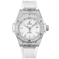 485.SE.2010.RW.1604   Hublot Big Bang One Click Steel White Pave 33 mm watch   Buy Now