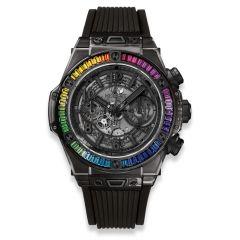 411.JB.4901.RT.4099 | Hublot Big Bang Unico All Black Sapphire Rainbow