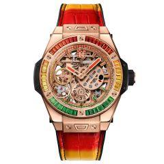 414.OX.4010.LR.4096.NJA18   Hublot Big Bang Meca-10 Nicky Jam King Gold X Setting 45 mm watch   Buy Now