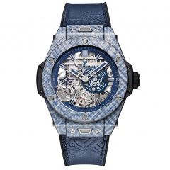 414.YL.5179.VR.SHF18 | Hublot Big Bang Meca-10 Shepard Fairey Blue Limited Edition 45mm watch.