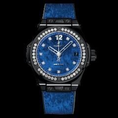 465.CS.277L.NR.1204.ITI17 Hublot Italia Independent Blue Velvet watch. Buy Online