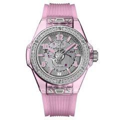 465.JP.4802.RT.1204 | Hublot Big Bang One Click Pink Sapphire Diamonds