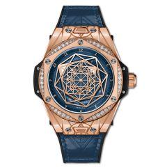 465.OS.7189.VR.1204.MXM19   Hublot Big Bang One Click Sang Bleu King Gold Blue Diamonds 39 mm watch   Buy Now
