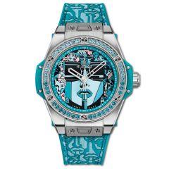 465.SX.1190.VR.1207.LIP19 | Hublot Big Bang One Click Marc Ferrero Steel Turquoise 39 mm | Buy Now
