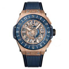 471.OL.7128.RX   Hublot Big Bang Unico GMT King Gold Blue Ceramic 45 mm watch   Buy Now