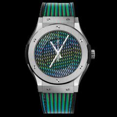 511.NX.8900.VR.CZD19 | Hublot Classic Fusion Cruz Diez Titanium 45mm watch. Buy Now