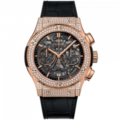 525.OX.0180.LR.1704 | Hublot Classic Fusion King Gold Pave 45 mm watch | Buy Now