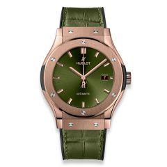 542.OX.8980.LR | Hublot Classic Fusion Green King Gold 42 mm watch