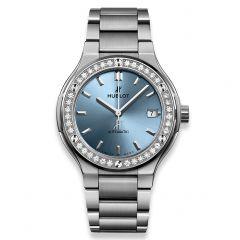 568.NX.891L.NX.1204 Hublot Classic Fusion Titanium Light Blue Bracelet