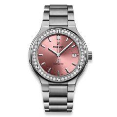 568.NX.891P.NX.1204   New Hublot Classic Fusion Titanium Pink Bracelet