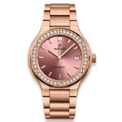 568.OX.891P.OX.1204 New Hublot Classic Fusion King Gold Pink Bracelet