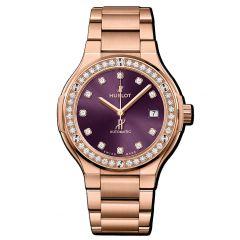 568.OX.898V.OX.1204 | Hublot Classic Fusion King Gold Purple Diamonds Bracelet 38 mm watch |Buy Now