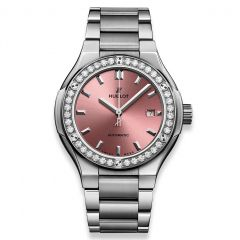 585.NX.891P.NX.1204 | New Hublot Classic Fusion Titanium Pink Bracelet