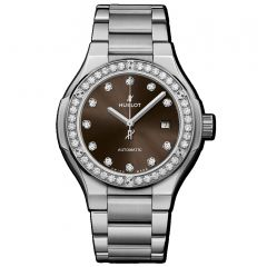 585.NX.897M.NX.1204 | Hublot Classic Fusion Titanium Brown Diamonds Bracelet 33 mm watch | Buy Now