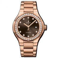 585.OX.898M.OX.1204 | Hublot Classic Fusion King Gold Brown Diamonds Bracelet 33 mm | Buy Now