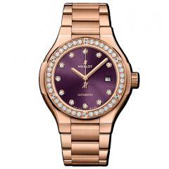 585.OX.898V.OX.1204 | Hublot Classic Fusion King Gold Purple Diamonds Bracelet 33 mm watch | Buy Now