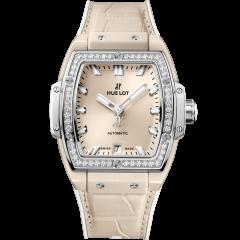 665.CZ.891B.LR.1204 | Hublot Spirit of Big Bang Beige Ceramic Titanium Diamonds 39 mm watch | Buy Now
