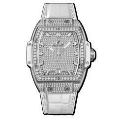 665.NE.9010.LR.1604 | Hublot Spirit Of Big Bang Titanium White Full Pave 39 mm watch | Buy Now