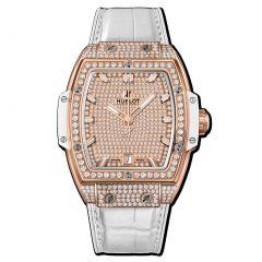 665.OE.9010.LR.1604 | Hublot Spirit Of Big Bang King Gold White Full Pave 39 mm watch| Buy Now