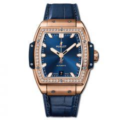665.OX.7180.LR.1204 | Hublot Spirit Of Big Bang King Gold Blue Diamonds 39 mm watch | Buy Now