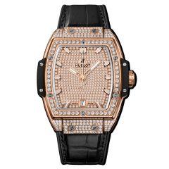 665.OX.9010.LR.1604   Hublot Spirit Of Big Bang King Gold Full Pave 39 mm watch   Buy Now