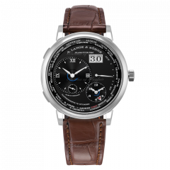 136.029 | A. Lange & Söhne Lange 1 Time Zone White Gold Black Dial 41.9 mm watch. Buy Online