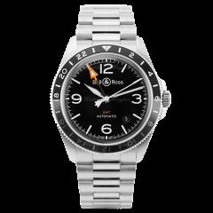 BRV293-BL-ST/SST   Bell & Ross Br V2-93 GMT 41 mm watch. Buy Online