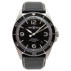 BRV292-BL-ST/SCA Bell & Ross Br V2-92 Black Steel 41 mm watch. Buy Now