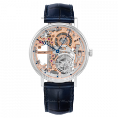 5395PT/RS/9WU | Breguet Classique Tourbillon Extra-Plat Squellette 41mm watch.