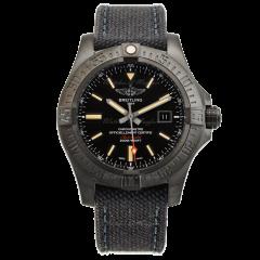 V17310101B1W1   Breitling Avenger Blackbird Black Titanium Volcano Black 48mm watch.