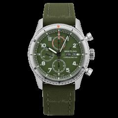 A133161A1L1X1 | Breitling Navitimer Aviator 8 Chronograph 43 Curtiss Warhawk watch.