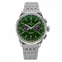 AB0118A11L1A1 | Breitling Premier B01 Chronograph 42 Bentley British Racing Green watch | Buy Now