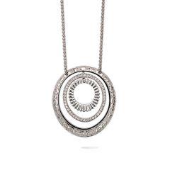 DA12709 020101   Carrera y Carrera Melodia White Gold Diamond Pendant
