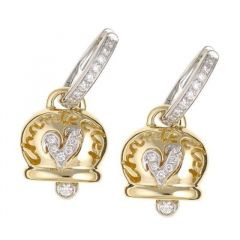Chantecler Campanelle Yellow Gold Diamond Earrings C.16864