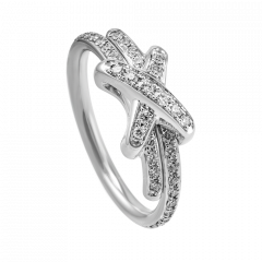 081293   Buy Online Chaumet Liens White Gold Diamond Full Paved Ring