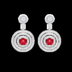 RGE773 | Buy Online Graff Bullseye White Gold Ruby Diamond Earrings