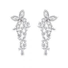 Graff Butterfly White Gold Diamond Earrings RGE1302