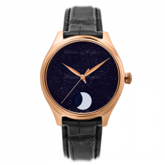 1801-0402   H. Moser & Cie Endeavour Perpetual Moon Concept Aventurine 42 mm watch   Buy Now