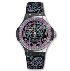 343.SS.6599.NR.1233 - Hublot Big Bang Broderie Sugar Skull Steel 41 mm watch.
