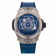 415.NX.7179.VR.MXM18 | Hublot Big Bang Sang Bleu Titanium Blue watch.
