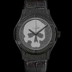 Hublot Classic Fusion Skull Black Full Pave 511.ND.9100.LR.1700.SKULL (Watches)