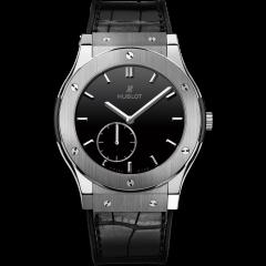 Hublot Classic Fusion Ultra-Thin Titanium Black Shiny Dial 515.NX.1270.LR