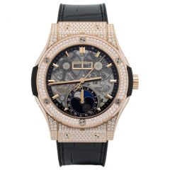 Hublot Classic Fusion King Gold Pave 547.OX.0180.LR.1704 watch
