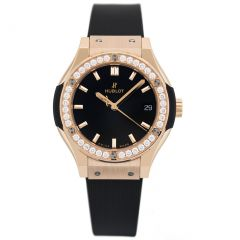 581.OX.1181.RX.1704 Hublot Classic Fusion King Gold Pave 33mm