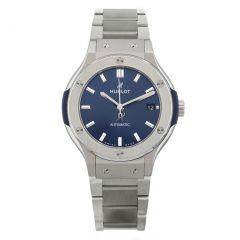 Hublot Classic Fusion Titanium Blue Bracelet 585.NX.7170.NX | Buy Now