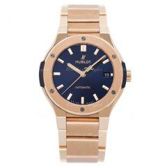 Hublot Classic Fusion King Gold Blue Bracelet 568.OX.7180.OX | Buy Now