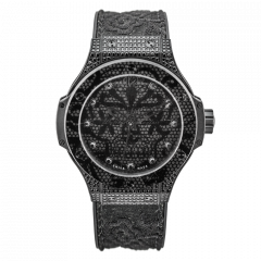 Hublot Big Bang Broderie All Black Diamonds 41 mm. Reference: 343.SV.6510.NR.0800