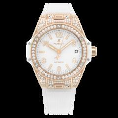465.OE.2080.RW.1604   Hublot Big Bang One Click King Gold White Pave watch