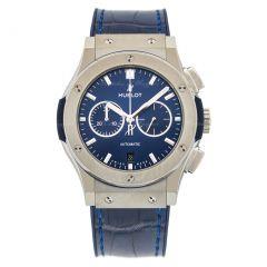 Hublot Classic Fusion Titanium Blue 541.NX.7170.LR. Watches of Mayfair