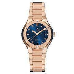 Hublot Classic Fusion King Gold Blue Bracelet 585.OX.7180.OX | Buy Now